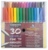 Fine Tip Washable Markers, Set of 30