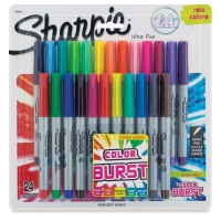Set of 24, Assorted with Color Burst