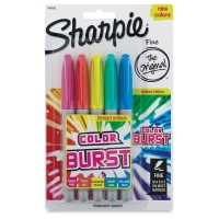 Set of 5, Color Burst Colors