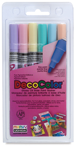Pastel Colors Set of 6, Fine Tip