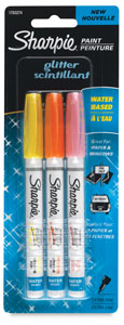 Set of 3, Light Glitter, Extra-Fine Point