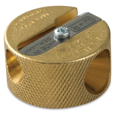 Grenade Brass Pencil Sharpener, Double Hole