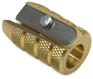 Grenade Brass Pencil Sharpener, Single Hole