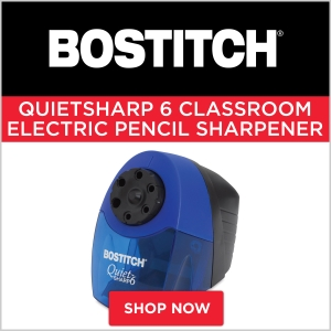 Bostitch QuietSharp6 Classroom Electric Pencil Sharpener