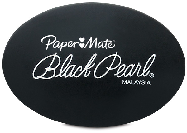 Black Pearl Eraser, Pkg of 2