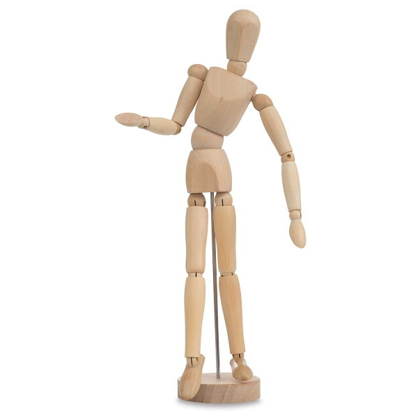 Hardwood Manikin, Male, 8""