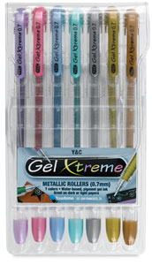 Gel Xtreme Metallics, Set of 7