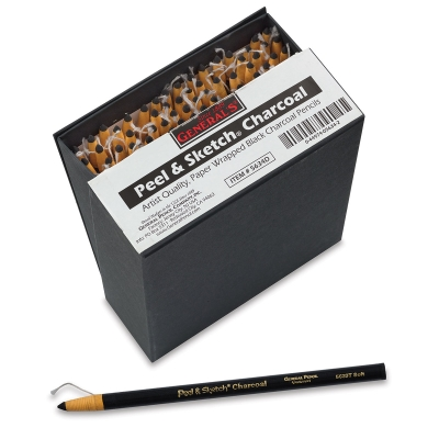 Peel and Sketch Charcoal, Class Pack of 72