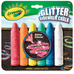 Glitter Sidewalk Chalk Set
