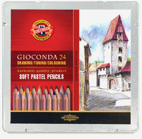 Soft Pastel Pencils, Set of 24