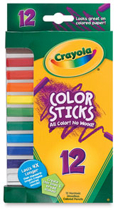 Color Sticks, Set of 12