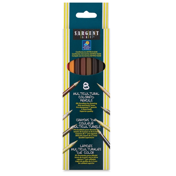 Multicultural Colored Pencils, Set of 8