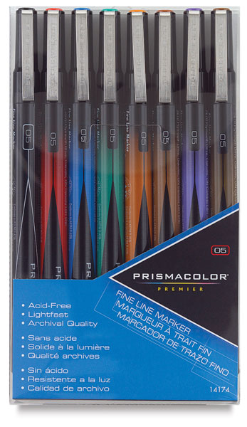 Fine Line Markers, Set of 8