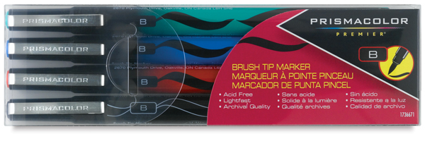 Brush Tip, Basic Colors, Set of 4