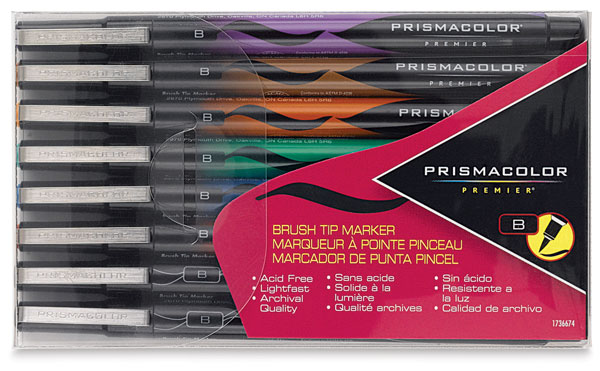 Brush Tip Markers, Set of 8