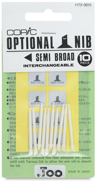 Original Replacement Nibs, Set of 10, Semi Broad