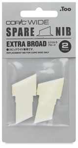 Wide Replacement Nibs, Set of 2, Extra Broad