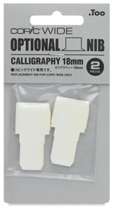 Wide Replacement Nibs, Set of 2, Calligraphy, 18 mm