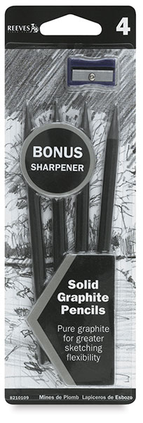 Graphite Pencil Pkg of 4 <strong>with FREE Sharpener</strong>