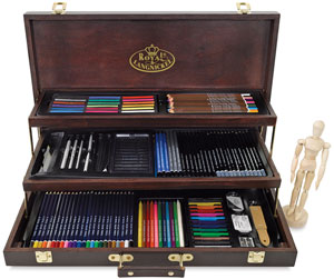 Deluxe Wood Box Drawing Set
