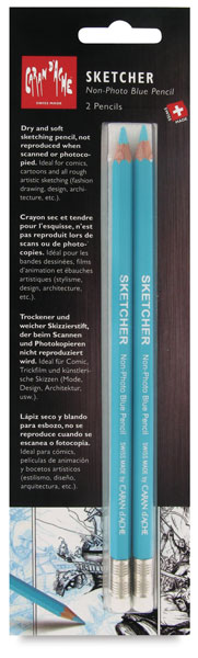 Sketcher Non-Photo Blue Pencil, Set of 2