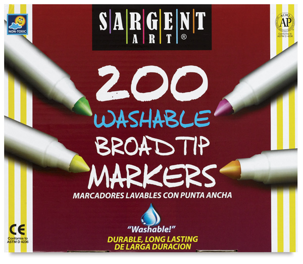 Broad Tip Washable Markers, Class Pack of 200