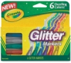 Crayola Glitter Markers, Pkg of 6