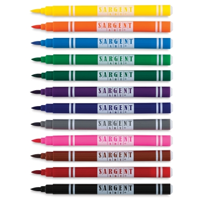 Brush Tip Markers, Set of 12