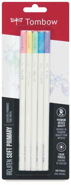 Colored Pencil Set of 5, Soft Primary