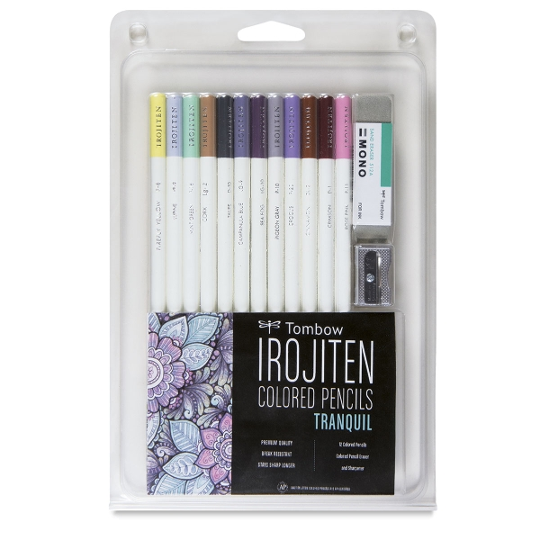 Colored Pencil Set of 12, Tranquil