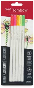 Colored Pencil Set of 5, Flourescent