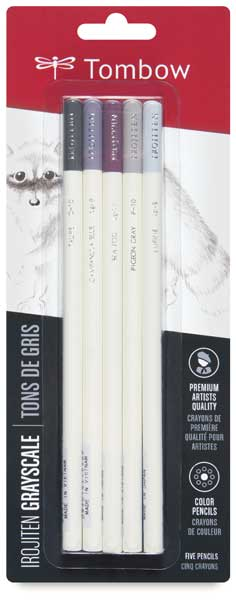 Colored Pencil Set of 5, Cool Gray