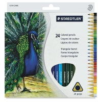 Triangular Colored Pencils, Set of 24