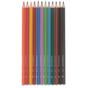 Triangular Watercolor Pencils, Set of 12