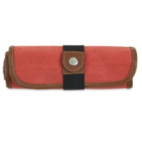 Roll Up Pencil Case for 36 Pencils, Rose
