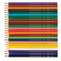 Watercolor Colored Pencils, Set of 24
