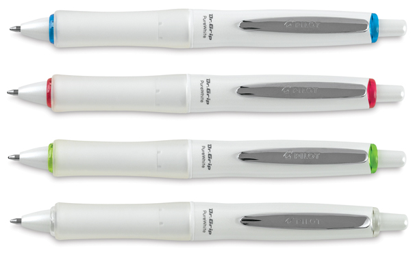 Dr. Grip Pure White Pens