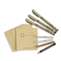 Zentangle Set, Tan, Set of 12