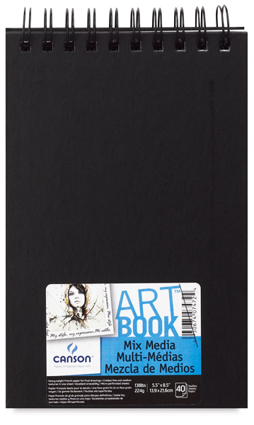"Mix Media Hardbound ArtBooks,40 sheets  5 ½"" x 8 ½"" Landscape"