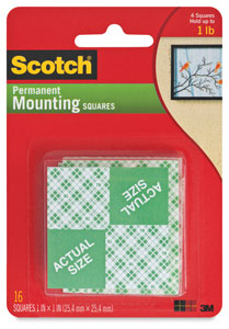 Permanent Mounting Squares, Pkg of 16