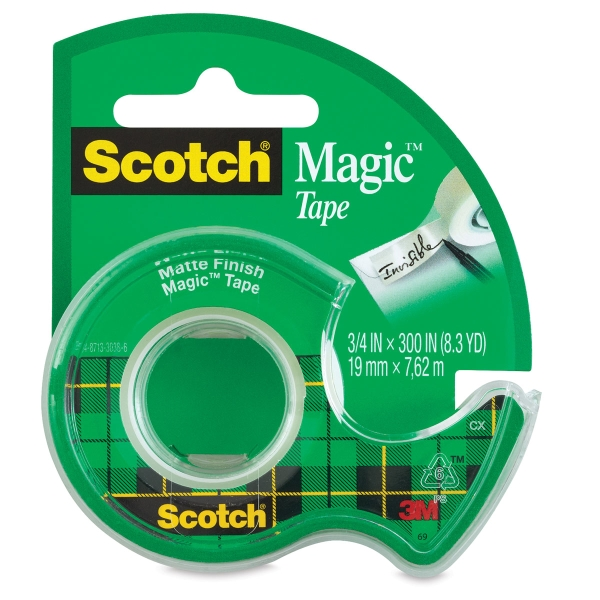 "Magic Tape in Dispenser, 3/4"" x 8 yds"