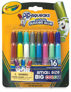 Pip-Squeaks Washable Glitter Glue, Set of 16