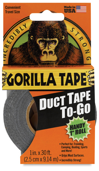"Gorilla Tape, Black, 1"" × 30 ft Roll"