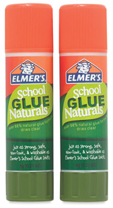 School Glue Naturals Glue Sticks, Pkg of 2, 6 g