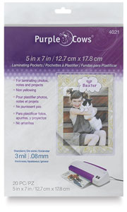 "Hot Laminating Pouches, Pkg of 20, 5"" x 7"""