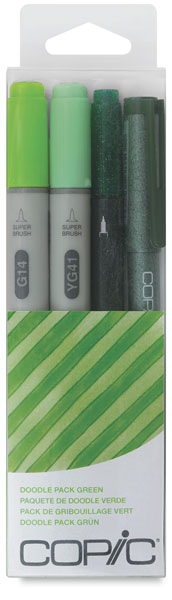 Green, Set of 4