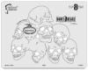 BoneHeadz 8 Dead Templates, Set of 4