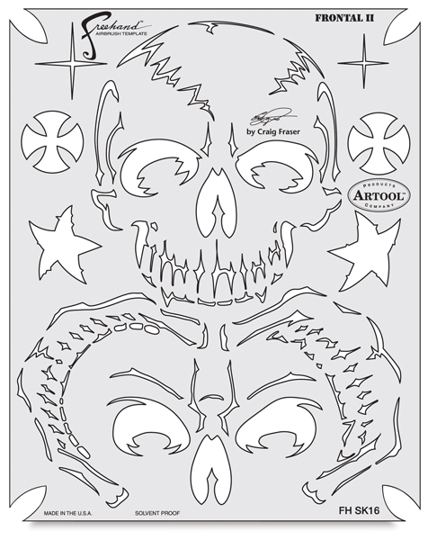 Return of Skull Master Frontal II Template
