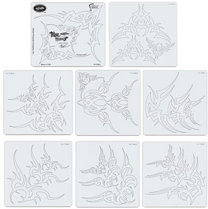 Tribal Master II Cornered Templates, Set of 8