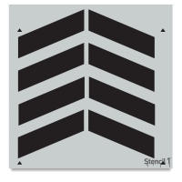 Chevron Stencil, Repeat Pattern